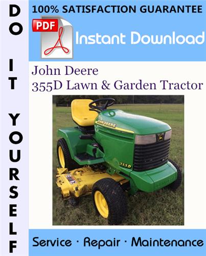 Thumbnail John Deere 355D Lawn & Garden Tractor Technical Manual ☆