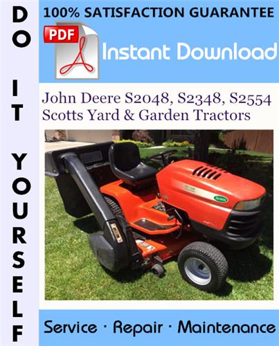 Thumbnail John Deere S2048, S2348, S2554 Scotts Yard & Garden Tractors Technical Manual ☆