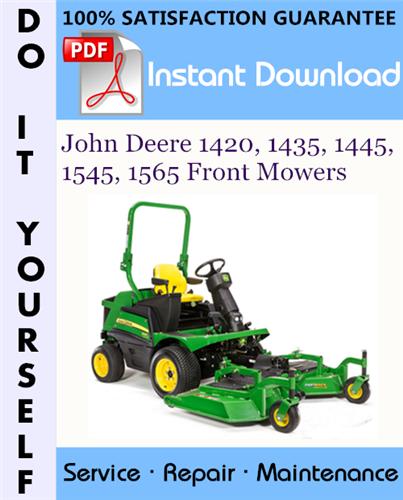 Thumbnail John Deere 1420, 1435, 1445, 1545, 1565 Front Mowers Technical Manual ☆