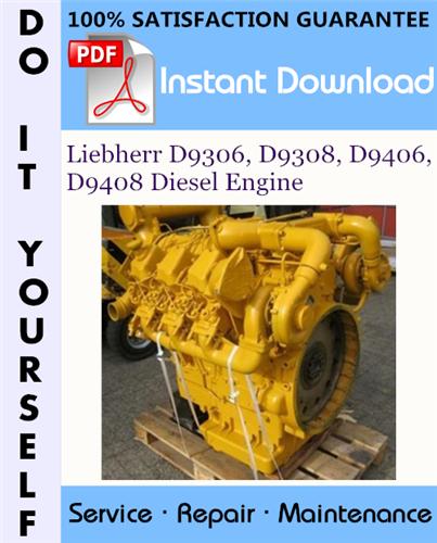 Thumbnail Liebherr D9306, D9308, D9406, D9408 Diesel Engine Technical Manual ☆