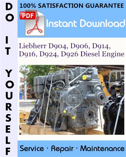 Thumbnail Liebherr D904, D906, D914, D916, D924, D926 Diesel Engine Technical Manual ☆
