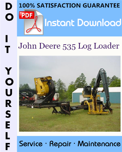 Thumbnail John Deere 535 Log Loader Technical Manual ☆