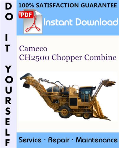 Thumbnail Cameco CH2500 Chopper Combine Repair Technical Manual ☆
