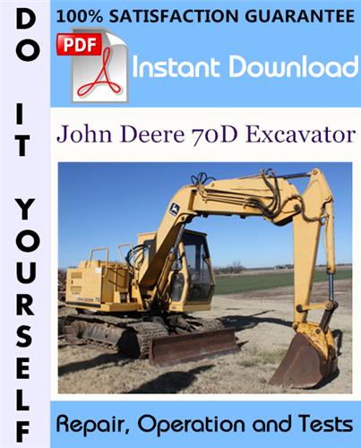 Thumbnail John Deere 70D Excavator Repair, Operation and Tests Technical Manual ☆