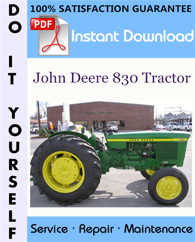 Thumbnail John Deere 830 Tractor Technical Manual ☆