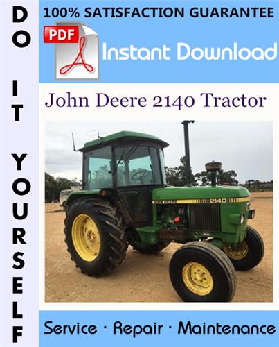 Thumbnail John Deere 2140 Tractor Technical Manual ☆