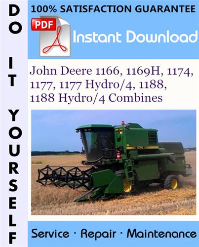 Thumbnail John Deere 1166, 1169H, 1174, 1177, 1177 Hydro/4, 1188, 1188 Hydro/4 Combines Technical Manual ☆