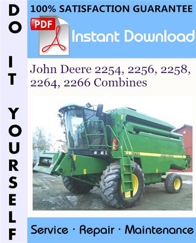 Thumbnail John Deere 2254, 2256, 2258, 2264, 2266 Combines Technical Manual ☆