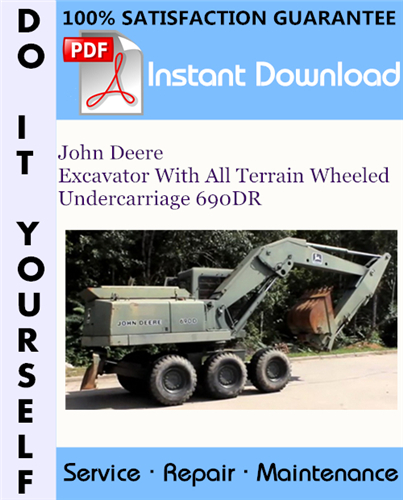 Thumbnail John Deere Excavator With All Terrain Wheeled Undercarriage 690DR Technical Manual ☆