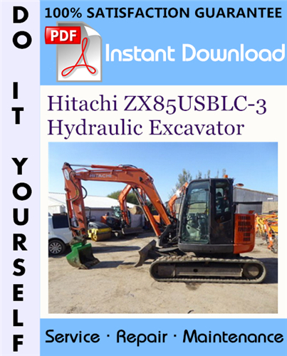 Thumbnail Hitachi ZX85USBLC-3 Hydraulic Excavator Service Repair Workshop Manual ☆