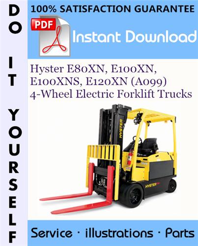 Thumbnail Hyster E80XN, E100XN, E100XNS, E120XN (A099) 4-Wheel Electric Forklift Trucks Parts Manual ☆