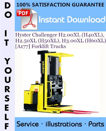 Thumbnail Hyster Challenger H2.00XL (H40XL), H2.50XL (H50XL), H3.00XL (H60XL) [A177] Forklift Trucks Parts Manual ☆