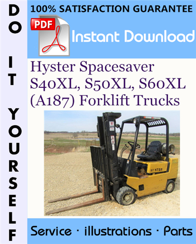 Thumbnail Hyster Spacesaver S40XL, S50XL, S60XL (A187) Forklift Trucks Parts Manual ☆