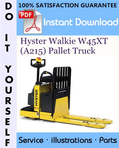 Thumbnail Hyster Walkie W45XT (A215) Pallet Truck Parts Manual ☆