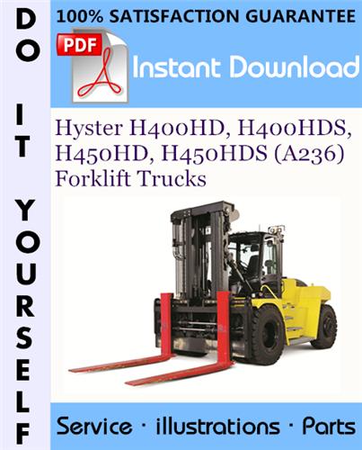 Thumbnail Hyster H400HD, H400HDS, H450HD, H450HDS (A236) Forklift Trucks Parts Manual ☆