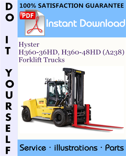 Thumbnail Hyster H360-36HD, H360-48HD (A238) Forklift Trucks Parts Manual ☆