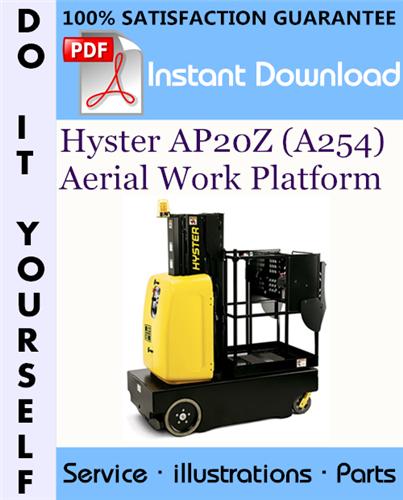 Thumbnail Hyster AP20Z (A254) Aerial Work Platform Parts Manual ☆