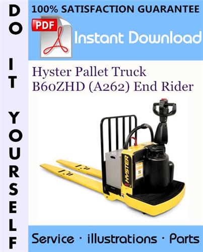 Thumbnail Hyster Pallet Truck B60ZHD (A262) End Rider Parts Manual ☆