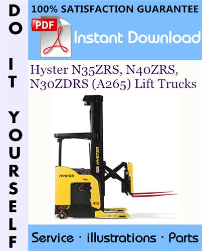 Thumbnail Hyster N35ZRS, N40ZRS, N30ZDRS (A265) Lift Trucks Parts Manual ☆