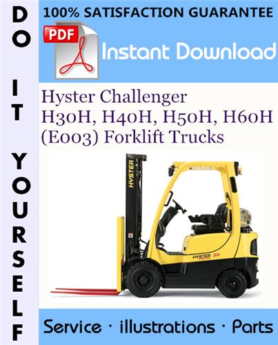 Thumbnail Hyster Challenger H30H, H40H, H50H, H60H (E003) Forklift Trucks Parts Manual ☆