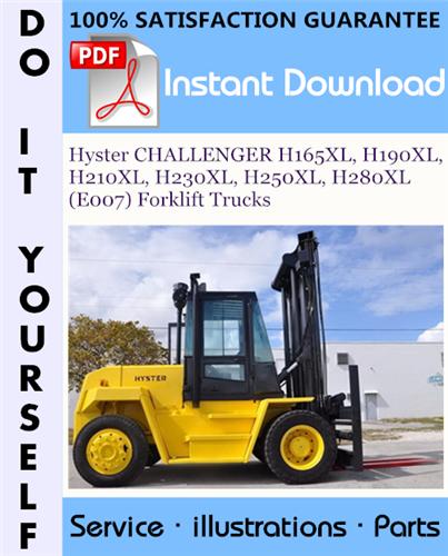 Thumbnail Hyster CHALLENGER H165XL, H190XL, H210XL, H230XL, H250XL, H280XL (E007) Forklift Trucks Parts Manual ☆