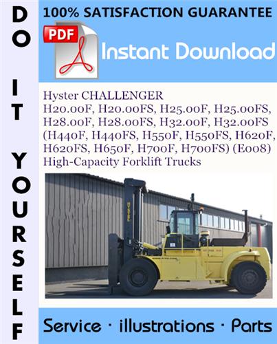 Thumbnail Hyster CHALLENGER H20.00F, H20.00FS, H25.00F, H25.00FS, H28.00F, H28.00FS, H32.00F, H32.00FS (H440F, H440FS, H550F, H550FS, H620F, H620FS, H650F, H700F, H700FS) (E008) High-Capacity Forklift Truck