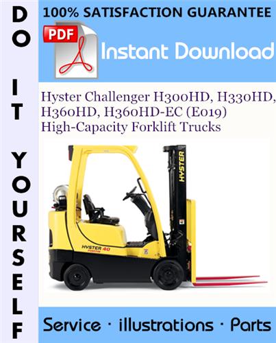 Thumbnail Hyster Challenger H300HD, H330HD, H360HD, H360HD-EC (E019) High-Capacity Forklift Trucks Parts Manual ☆