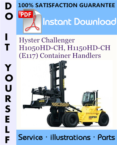 Thumbnail Hyster Challenger H1050HD-CH, H1150HD-CH (E117) Container Handlers Parts Manual ☆