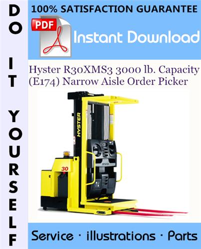 Thumbnail Hyster R30XMS3 3000 lb. Capacity (E174) Narrow Aisle Order Picker Parts Manual ☆