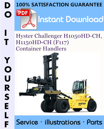 Thumbnail Hyster Challenger H1050HD-CH, H1150HD-CH (F117) Container Handlers Parts Manual ☆