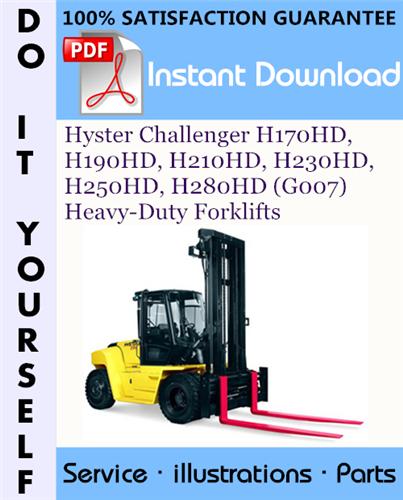 Thumbnail Hyster Challenger H170HD, H190HD, H210HD, H230HD, H250HD, H280HD (G007) Heavy-Duty Forklifts Parts Manual ☆