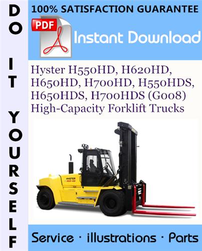 Thumbnail Hyster H550HD, H620HD, H650HD, H700HD, H550HDS, H650HDS, H700HDS (G008) High-Capacity Forklift Trucks Parts Manual ☆