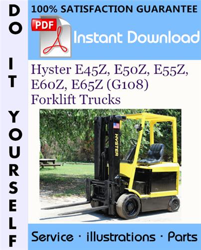 Thumbnail Hyster E45Z, E50Z, E55Z, E60Z, E65Z (G108) Forklift Trucks Parts Manual ☆