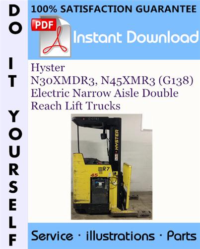 Thumbnail Hyster N30XMDR3, N45XMR3 (G138) Electric Narrow Aisle Double Reach Lift Trucks Parts Manual ☆