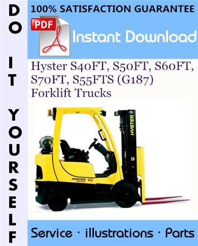 Thumbnail Hyster S40FT, S50FT, S60FT, S70FT, S55FTS (G187) Forklift Trucks Parts Manual ☆