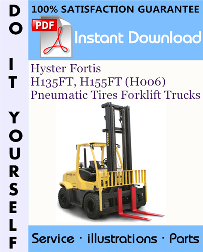 Thumbnail Hyster Fortis H135FT, H155FT (H006) Pneumatic Tires Forklift Trucks Parts Manual ☆