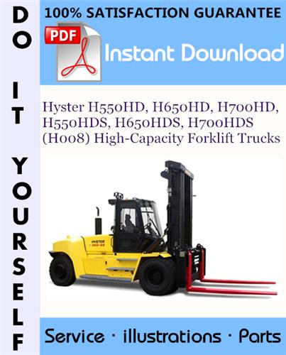 Thumbnail Hyster H550HD, H650HD, H700HD, H550HDS, H650HDS, H700HDS (H008) High-Capacity Forklift Trucks Parts Manual ☆
