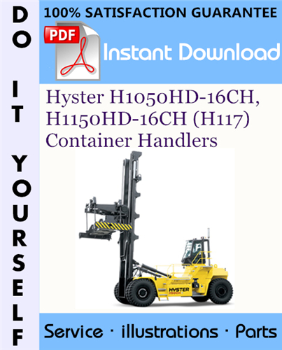 Thumbnail Hyster H1050HD-16CH, H1150HD-16CH (H117) Container Handlers Parts Manual ☆