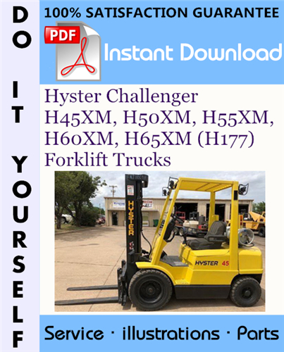 Thumbnail Hyster Challenger H45XM, H50XM, H55XM, H60XM, H65XM (H177) Forklift Trucks Parts Manual ☆