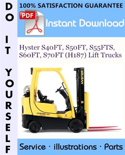 Thumbnail Hyster S40FT, S50FT, S55FTS, S60FT, S70FT (H187) Lift Trucks Parts Manual ☆