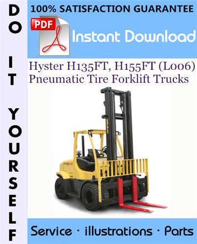 Thumbnail Hyster H135FT, H155FT (L006) Pneumatic Tire Forklift Trucks Parts Manual ☆