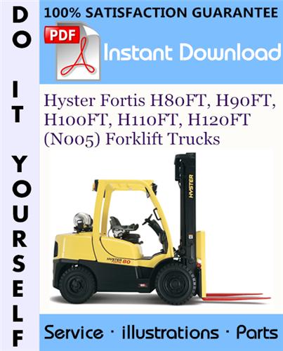 Thumbnail Hyster Fortis H80FT, H90FT, H100FT, H110FT, H120FT (N005) Forklift Trucks Parts Manual ☆