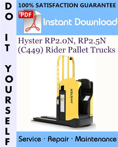 Thumbnail Hyster RP2.0N, RP2.5N (C449) Rider Pallet Trucks Service Repair Workshop Manual ☆