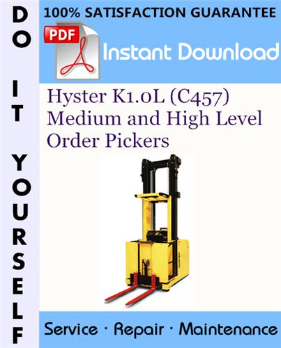 Thumbnail Hyster K1.0L (C457) Medium and High Level Order Pickers Service Repair Workshop Manual ☆