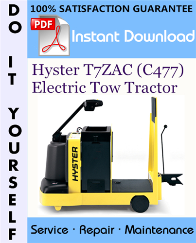 Thumbnail Hyster T7ZAC (C477) Electric Tow Tractor Service Repair Workshop Manual ☆
