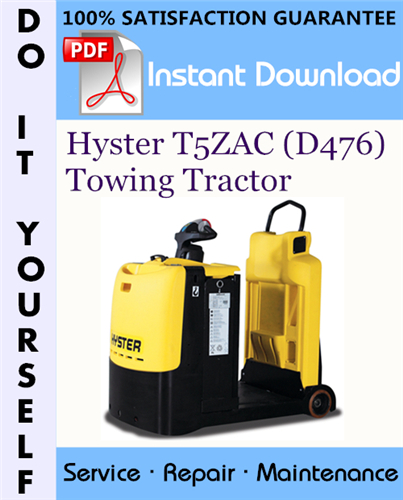 Thumbnail Hyster T5ZAC (D476) Towing Tractor Service Repair Workshop Manual ☆