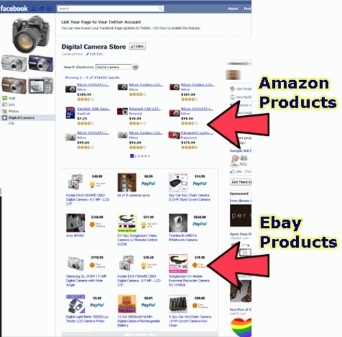Pay for Facebook Ebay Amazon Store Builder + MRR