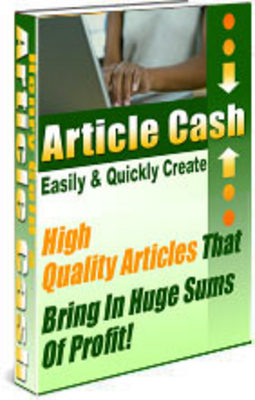 Pay for Article Cash Guide - With 100 Bonus Articles