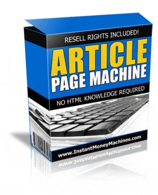 Pay for Article Page Machine: Turn Text Into Html! w Resell Rights