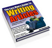 Thumbnail The Lazy Mans Guide To Writing Articles ! Master Resale Rights Included.